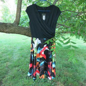 NWT Retro Colorful Inspired Wrap Dress size M